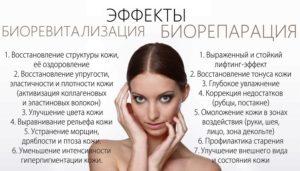 Эффекты от процедур с гиалуронатом