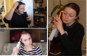 Девушки используют дома дарсонваль