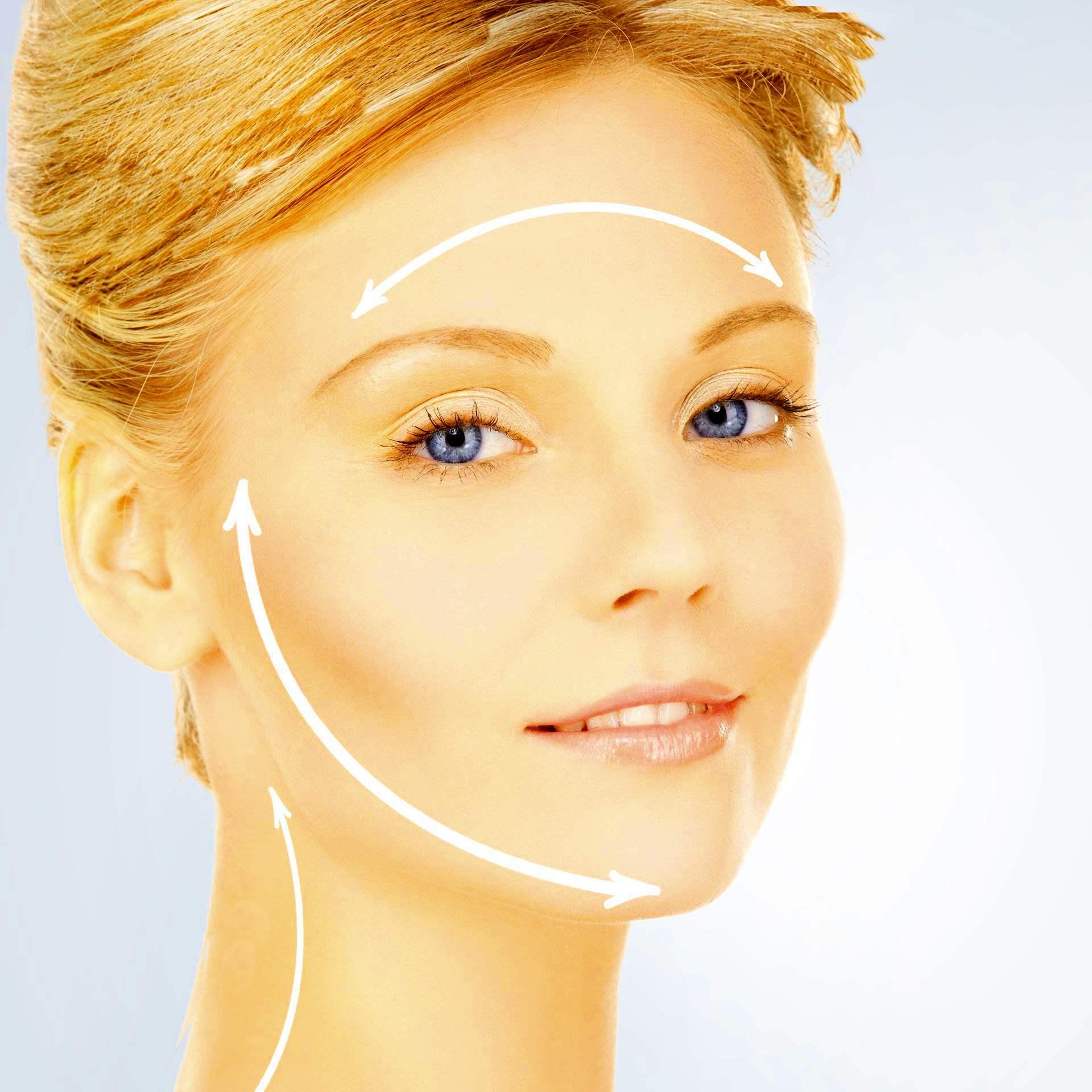 Рисунок линий для подтяжки кожи лица