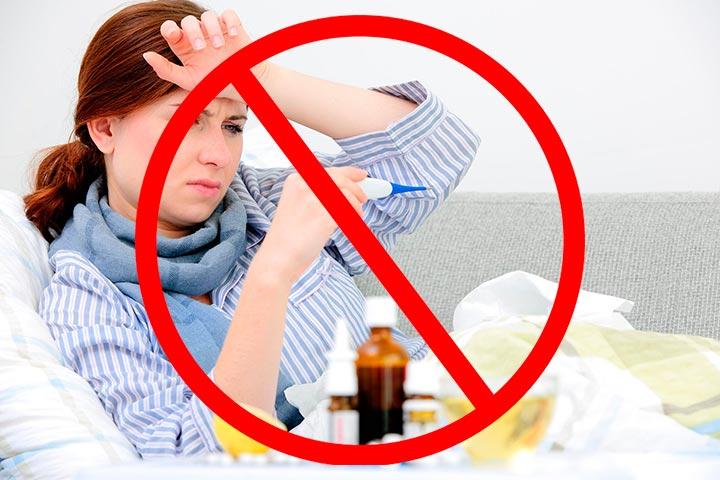Грипп - одно из противопоказаний к уколам гиалуроновой кислоты