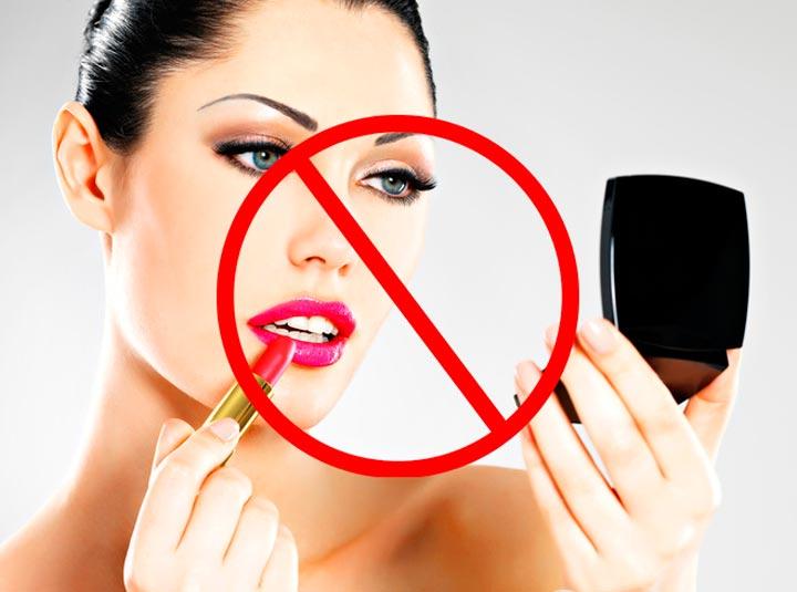 Запрещено использование декоративной косметики в реабилитационный период после татуажа