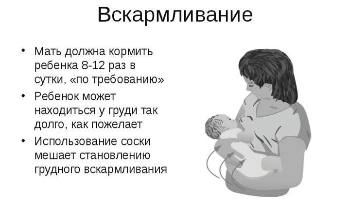 Кормить ребенка нужно по требованию, а не по часам