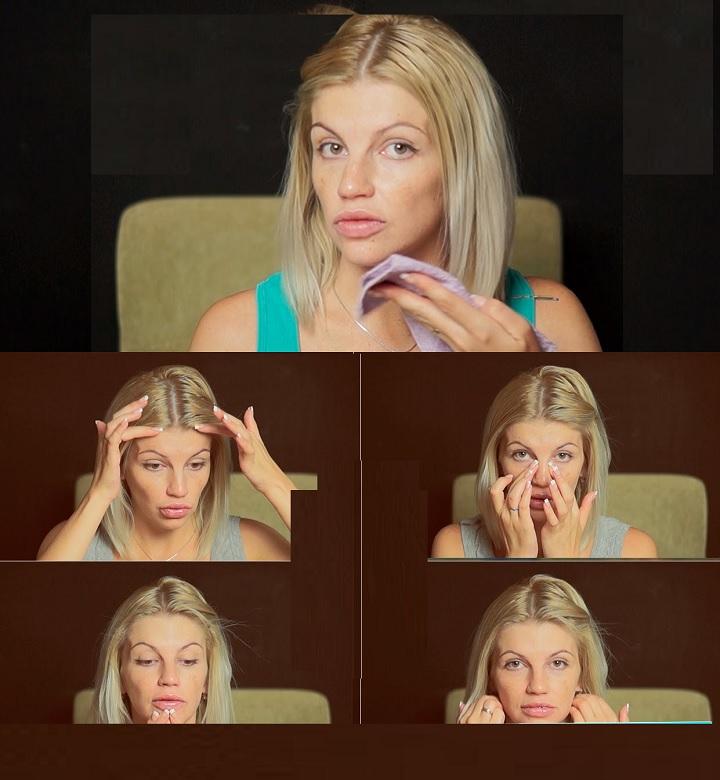 Коррекция овала лица массажем