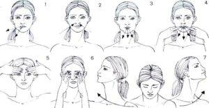 Массаж мышц лица
