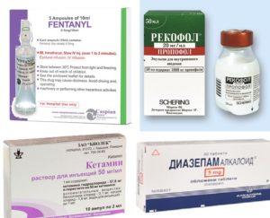 Парентерального наркоза препараты
