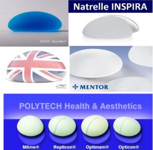 Логотипы производителей имплантов для груди