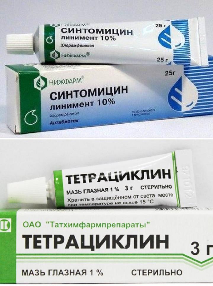 Синтомицин и тетрациклин
