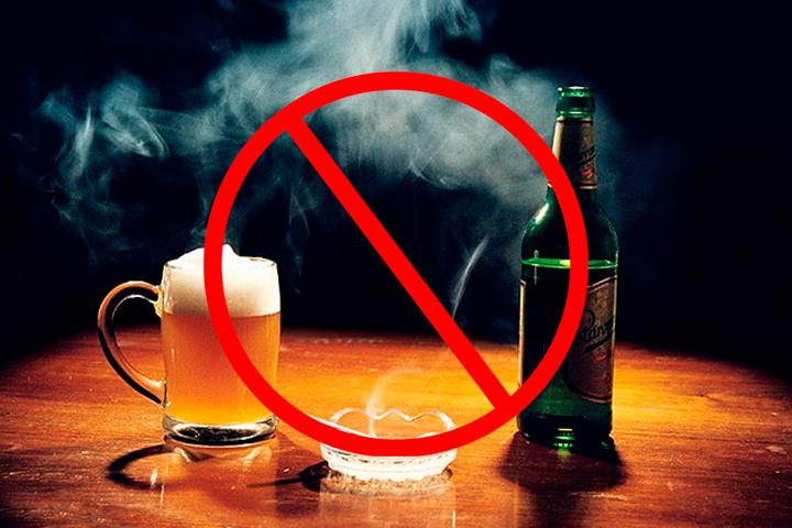 Алкоголь и табакокурение негативно сказываются на коже