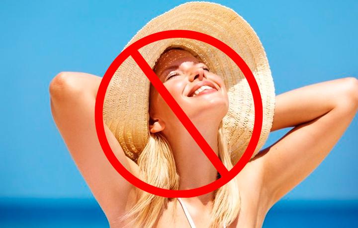 Осторожность на солнце после пилинга