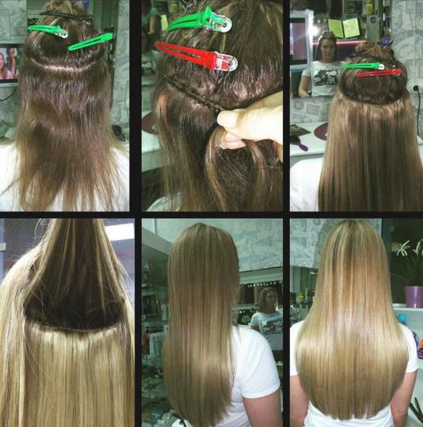 Что из себя представляет процедура наращивания волос
