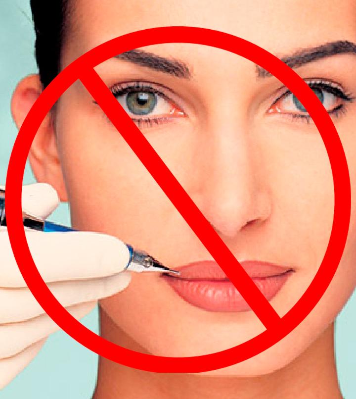 Запрещен лазерный пилинг при татуаже лица