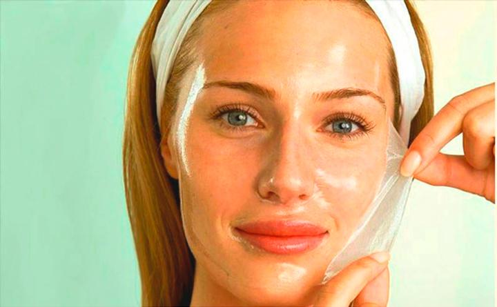 Желатиновая маска для кожи лица
