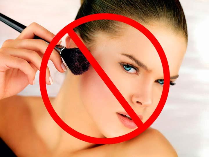 Запрещено нанесение косметики в первые два дня после ввода Сурджидерма