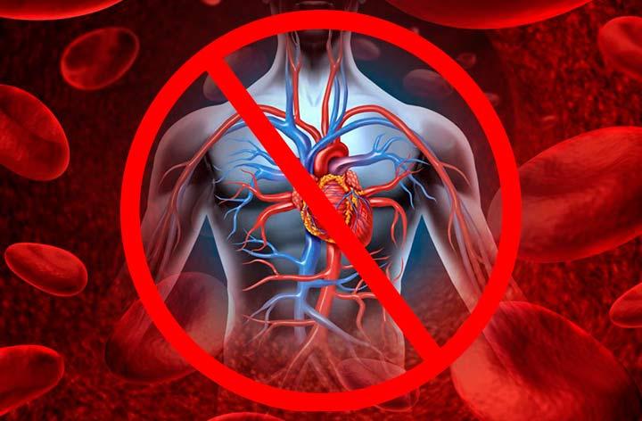 Запрещено примение Акваликса при проблемах с кровообращением и свертываемостью крови