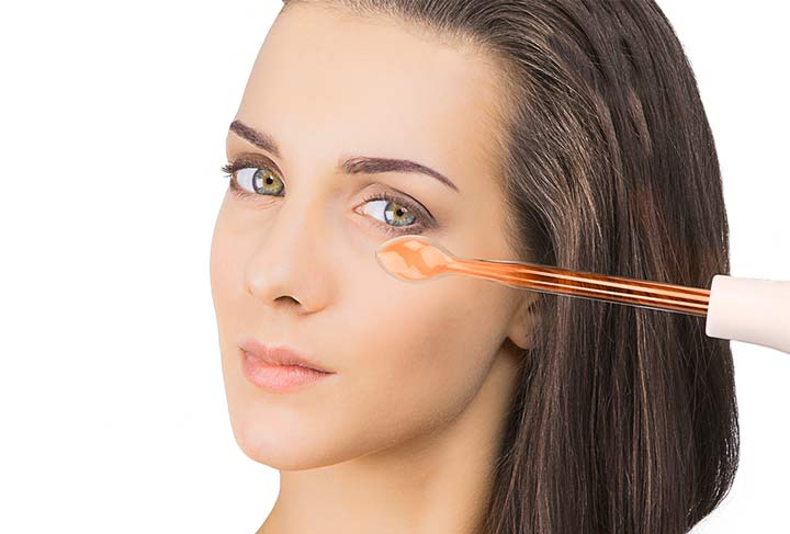 Процедура контактной дарсонвализации