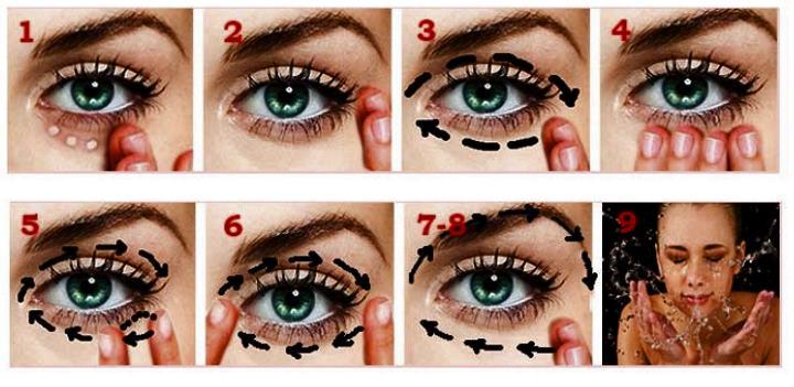 Упражнения для массажа вокруг глаз