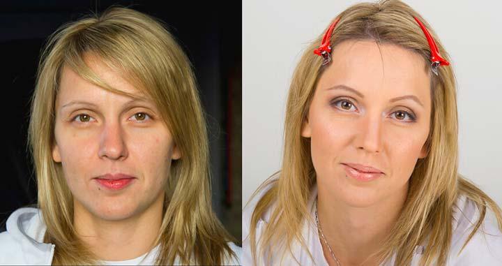 Уменьшение формы носа при помощи изменения прически