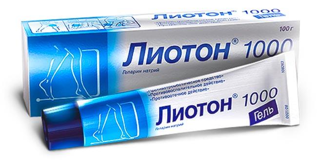 Мазь Лиотон-1000 от рубцов