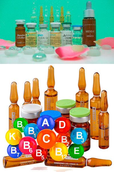 Капсулы, витамины и лекарства для мезотерапии