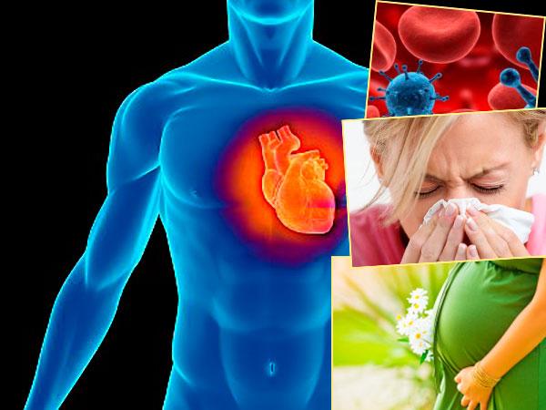 Болени сердца, беременность, лихорадка и болезин крови