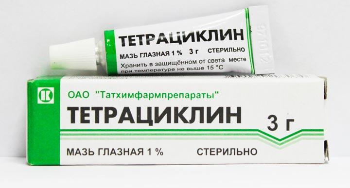 Антибактериальная мзь для глаз _ Тетрациклин