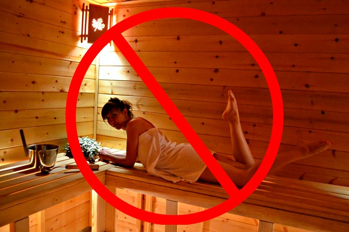 Нельзя посещать саунй после электроэпиляции