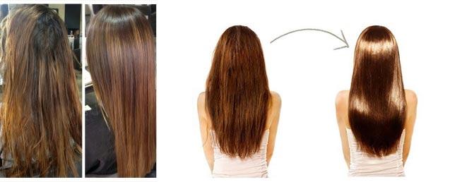 Волосы до и после ботокса