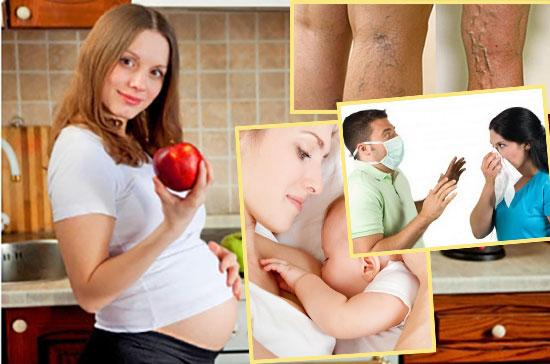 Беерменная женщина, кормящая мать, инфекционные болезни и вараикоз
