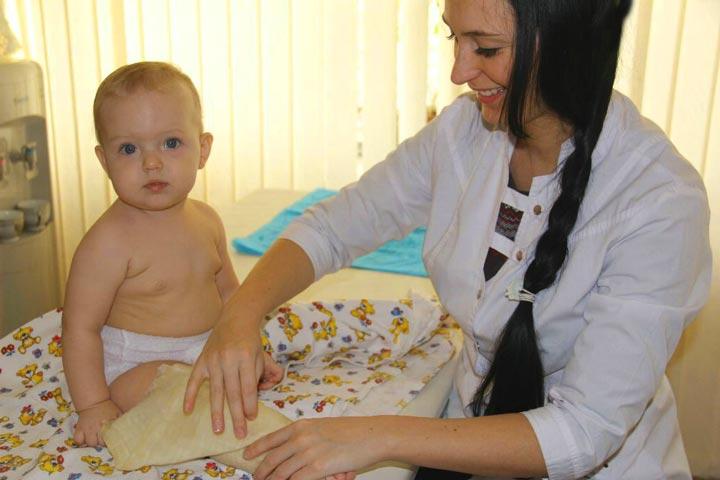 Сеанс парафинотерапии ребенку