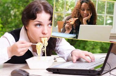 Прием пищи за работой