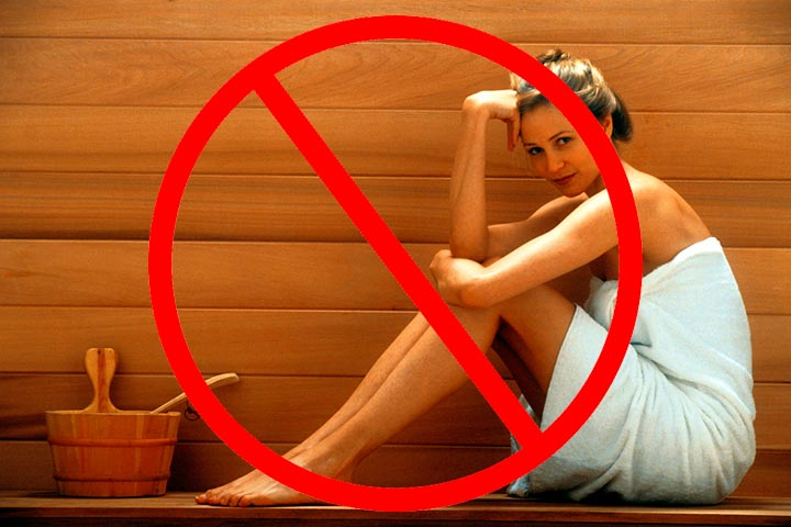 Запрещено посещение саун и бань после контурной пластики