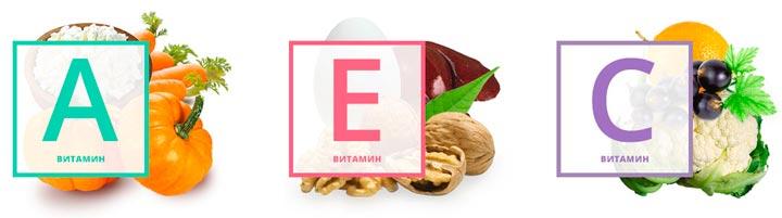 Витамины А, Е, С - одно из составляющих Мезоксантина
