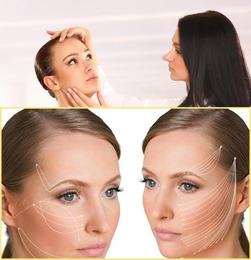 Осмотр врача-косметолога и линии термолифтинга