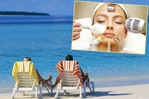 Солнечные ванны и косметологические процедуры