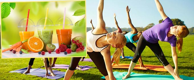 Занятие спортом и здоровое питание