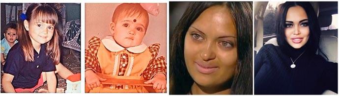 Нита Кузьмина в детстве и взрослая