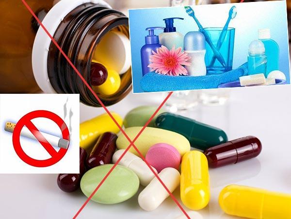 Отказ от лекарств и курения, гигена тела и рта