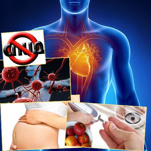 Заболевания сердца, СПИД, диабет, беременность