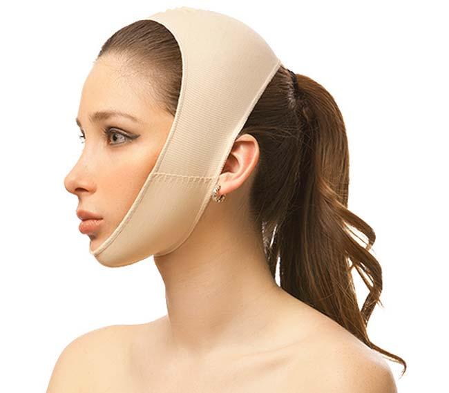 Ношение особой повязки на лице и шее после липосакция