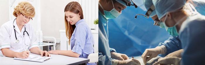 Прием у гинеколога и операция лабиопластики