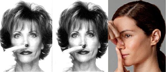 упражнения для коррекции носа