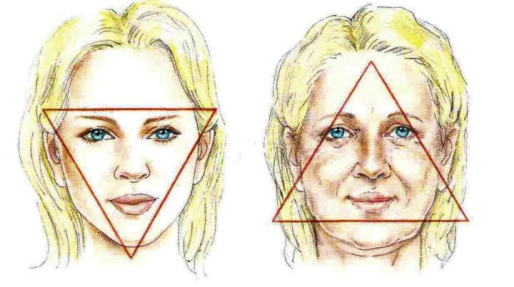 Возрастной треугольник лица