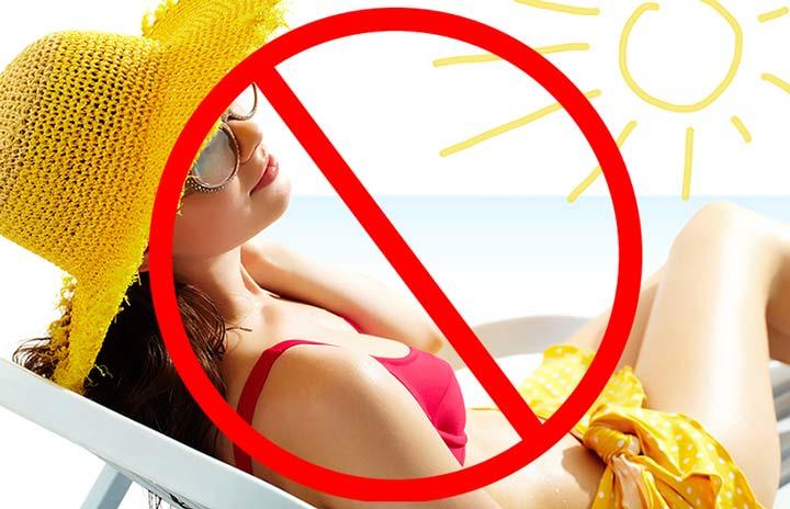 Запрещено нахождение под активным солнцем после ТСА-пилинга