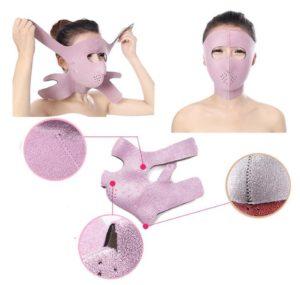 Фиолетовый бандаж для лица