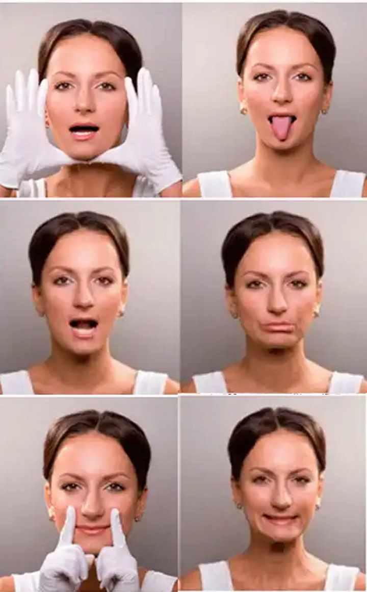 Упражнения для овала лица