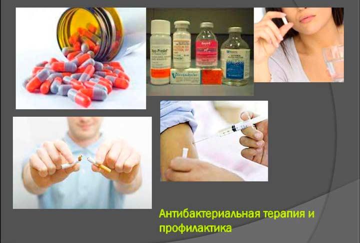 Антибактериальная терапия в случае генерализованной бактериальной инфекции после эндоскопической септопластики