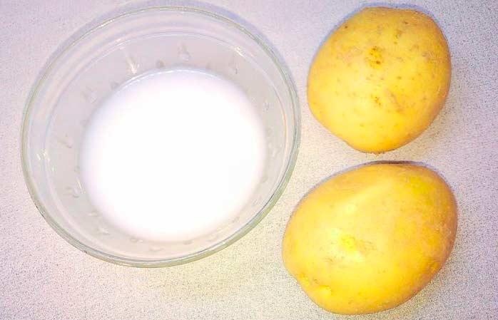 Маска с картофелем