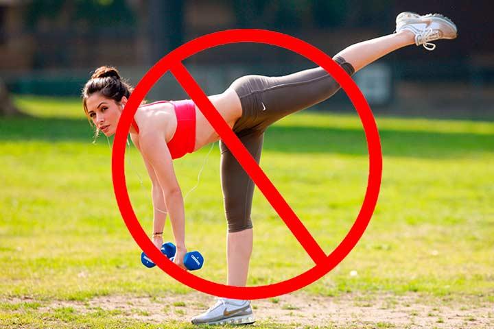 Запрещены занятия спортом в течение двух недель после эндоскопической септопластики