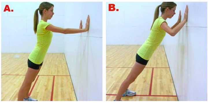 Упражнение - упор в стену