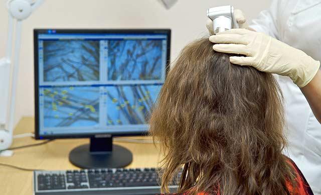 Обследование волос